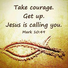 Mark 10:49