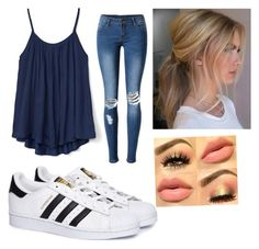 """""""💙"""" by stefanie-ege on Polyvore featuring Gap, WithChic and adidas"""