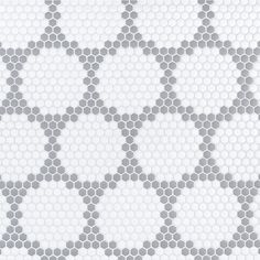 Herald Mosaic - Grey - in. x 6 mm - Ceramic Floor Tiles, Tile Floor, Bathroom Tile Designs, Bathroom Ideas, Hexagon Shape, Designer Collection, Blackwork, Mosaic, Flooring