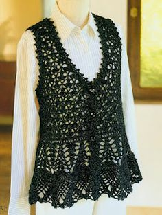 Free Crochet Pattern Tunic Vest : 1000+ images about Crochet Blouses -- Pineapple on ...