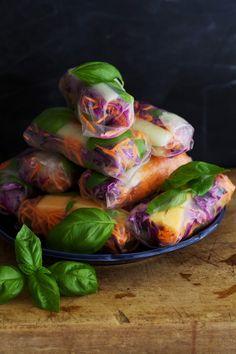 My Sweet Faery: Rouleaux d'été au melon et au basilic, par Golubka