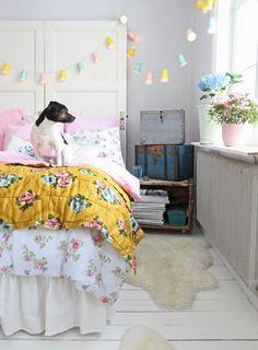 Pastel Interior Inspiration from Underbara Clara's World on hearthandmade.co.uk