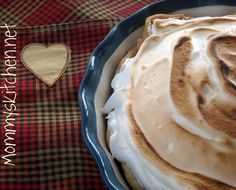 Mommy's Kitchen - Country Cooking & Family Friendly Recipes: Old Fashioned Chocolate Meringue Pie #thanksgiving #pie