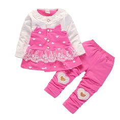 BibiCola Girls Clothing Sets Spring Autumn Baby Girls T-shirt Tops +Pants Outfits Girls Sport Suit Toddler Girls Clothing Toddler Girl Outfits, Toddler Fashion, Toddler Dress, Boy Outfits, Kids Fashion, Toddler Girls, Pants Outfit, Outfit Sets, Teddy Bear Clothes
