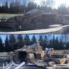 Making big progress on this awesome project! #barringtonpools #builtbybarringtonpools #designbybarringtonpools #pool #swimmingpool #stone #contractorsofinsta #themodernlandscaper #sun #igdaily #photooftheday #build #backyard #pool #landscape #custom #luxury #progress #work #friday #weekend