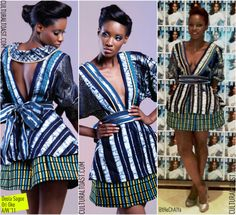 Fashion consultant and blogger Chalya at the Arise Made in Africa show wearing a stunning handcrafted Deola Sagoe wrap dress lifted from the Nigerian fashion label's Ori Oke Fall 2011 Collection. deola_sagoe_ori_oke_chalya