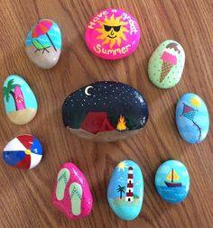 Painted rocks, Summer, beach, flip flops, Awesome Summer Rocks!
