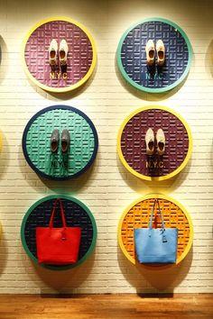 Cole Haan windows display. #retail #merchandising #display #fashion: