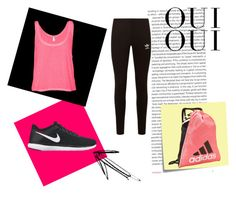 """""""Gym outfit"""" by samjanesimpson on Polyvore featuring Oris, NIKE, Post-It, adidas Originals, B. Ella, adidas and Oui"""