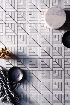 Tile. Gray and white tile; bathroom tile; modern tile; gray bathroom; grey bathroom.