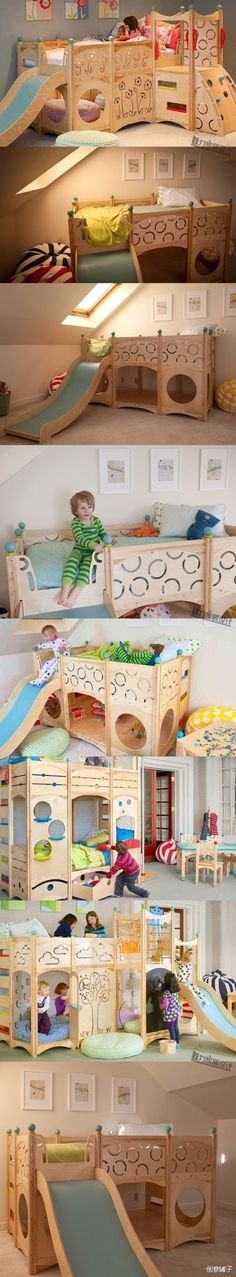 Cool Idea Kids Room...Impresionante idea para cuarto infantil...