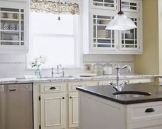 Paint Old Cabinets/switch cabinet doors to glass