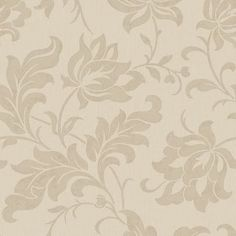 Adeline Beige Floral Damask Wallpaper R1873