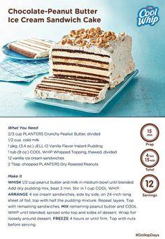 Choc pb ice cream cake