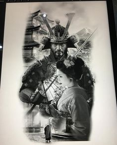 Something I made for tomorrow's work:) Samurai Tattoo Sleeve, Samurai Warrior Tattoo, Warrior Tattoos, Armor Tattoo, Norse Tattoo, Viking Tattoos, Japanese Tattoo Art, Japanese Tattoo Designs, Japanese Sleeve Tattoos