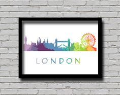 Cross Stitch Pattern New York City Silhouette Watercolor Effect Painting Decor…