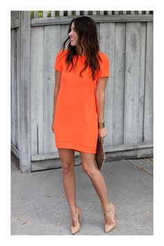 Orange Outfits 9 summer outfit ideas for work outfit outfit ideen und Orange Outfits. Here is Orange Outfits for you. Orange Outfits 9 summer outfit ideas for work outfit outfit ideen und. Orange Outfits all orange outfi. What To Wear To A Wedding, How To Wear, Wear To Work, Dresses To Wear To A Wedding, Dress For Wedding Guest, Casual Wedding Outfit Guest, Summer Work Wear, Wedding Attire, Wedding Shoes