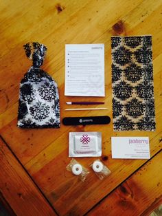 In-home Jamberry party goodie bags for all attendees. << love this idea! #jamberry #love