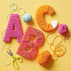 12 Fun Alphabet Activities Toddlers can practice hand-eye coordination and learn letters with this unique yarn Spell o Yarn Crafts, Diy And Crafts, Crafts For Kids, Arts And Crafts, Paper Crafts, Wood Crafts, Learning The Alphabet, Alphabet Activities, Toddler Activities