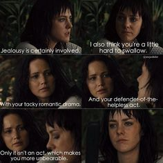 Book quote that didn't make it into the movie between Johanna and Katniss.