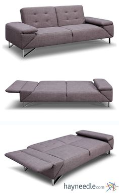 This convertible sofa fits in perfect in any home and allows guests feel comfortable in your home.