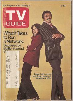 TV Guide, April 29, 1975 — Susan Saint James & Rock Hudson in McMillan & Wife (1971-75, NBC)