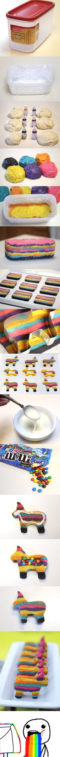 Pinata Cookies! Minus the weird thing at the bottom lol I just died!