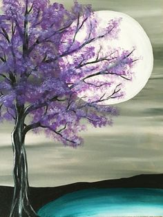 Fantastic Simple Painting Ideas for Beginners . Fantastic Simple Painting Ideas for Beginners . Step by Step Pink Flowering Tree Painting with Pretty Teal Easy Canvas Painting, Simple Acrylic Paintings, Easy Paintings, Diy Painting, Painting & Drawing, Watercolor Paintings, Canvas Art, Canvas Ideas, Paintings Of Trees