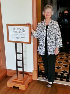 BRAVO! co-producer, co-director Betty Rodgers inside the Pritzker Military Museum & Library in Chicago, Illinois. The Pritzker is a co-sponsor of tonight's screening of BRAVO! at the Union League Club of Chicago.  BRAVO! COMMON MEN, UNCOMMON VALOR. DVDs @ http://bravotheproject.com/buy-the-dvd/  #BRAVO! #Pritzker #ULCC