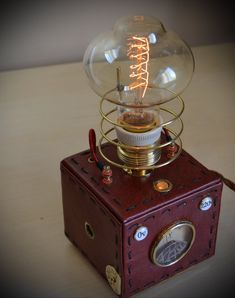 Steampunk lamp number 9 by MagenKening