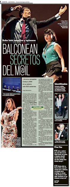 Nota del estreno de Cheka tu Mail en el periódico Reforma: