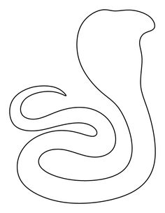 Cobra pattern. Use the printable outline for crafts, creating stencils, scrapbooking, and more. Free PDF template to download and print at http://patternuniverse.com/download/cobra-pattern/