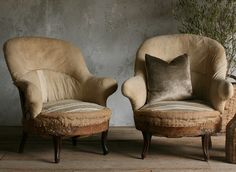 Antique Empire Bergeres Chairs - Chic Deconstructed