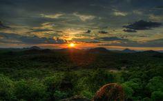 African Sunset, Save Valley Conservancy, Zimbabwe [1440x900] - Imgur