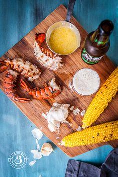 Grilled Garlic Beer Butter Lobster. The BEST way to make lobster. Ever.