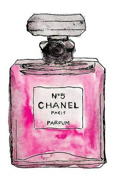 Chanel perfume Bottle drawing
