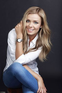 Casual: Katherine also chose a dressed down look for the shoot, looking flawless in jeans . Blond, Katherine Jenkins, White Gowns, Female Singers, Celebs, Celebrities, Fashion Advice, Girl Crushes, Gorgeous Women