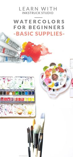 A BEGINNER'S GUIDE TO WATERCOLORS+ARTIST'S WATERCOLOR SET GIVEAWAY