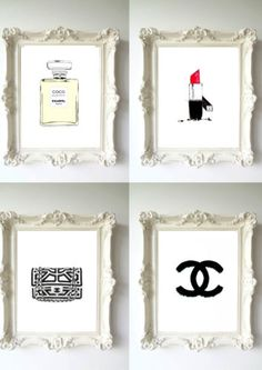 Chanel Gold Vintage Poster wall Art Print Fashion Perfume Classic home decor -bathroom ideas Chanel Decor, Chanel 5, Chanel Clutch, Chanel Logo, Bedroom Decor, Wall Decor, Black And White Posters, Glam Room, Girly