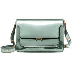 Marni Trunk Bag (€2.215) ❤ liked on Polyvore featuring bags, handbags, shoulder bags, sage, marni, green handbags, marni purse, shoulder strap purses and green shoulder bag