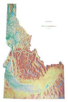 Idaho wall maps   Large Idaho wall map