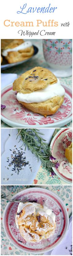 These elegant Lavender Cream Puffs are light and airy French pastries filled with whipped cream and garnished with a lavender glaze. The Foodie Affair #dessert #recipe