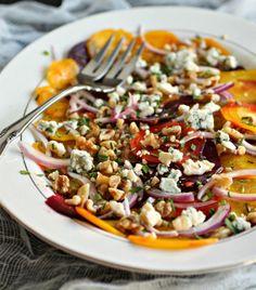 Hungry Couple: Beautiful Beet Salad with Walnuts & Gorgonzola