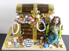 cakelava: Treasure Chest Cake with Mermaid. cake by Rick Reichart. www.cakelava.com