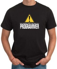 The Person Using This Mug Is A Programmer T-Shirt
