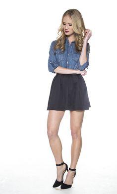 New York Girl Skater Skirt - Black