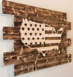 United States USA wood sign charred burnt by MonogramedMemories