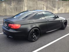 matte black bmw coupe I can't wait to own another one of these next year! Bmw 320d, Bmw Cars, Porsche 911, Matte Black Bmw, Audi S5, Car Mods, Black Wheels, Sweet Cars, Cars Motorcycles