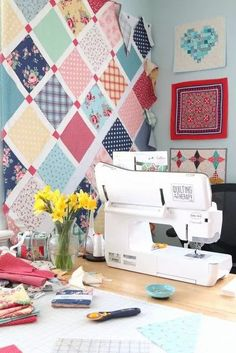 Making a new version of my Lattice Quilt using my favorite Baby Lock Crescendo sewing machine. Sewing Spaces, Sewing Rooms, Baby Lock Sewing Machine, Lattice Quilt, Amy Smart, Quilting Designs, Quilting Ideas, Room Inspiration, Quilt Patterns
