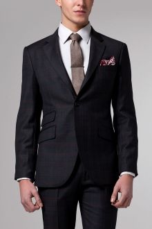Vincero Charcoal & Brown Plaid Suit   Indochino
